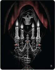 Anne Stokes Candelabra Grim Reaper Gothic Polar Fleece Throw Rug Blanket