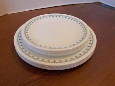 12 PCS CORELLE DINNERWARE SNOWFLAKE LUNCHEON AND DINNER PLATES