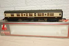 O gauge EXCELLENT Lima mk 1 Coach Great Western Brown Cream 5015 2nd Class (2)
