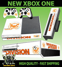 XBOX ONE CONSOLA PEGATINA TOM CLANCY THE DIVISION LOGO BLANCO 003 PIEL & PAD