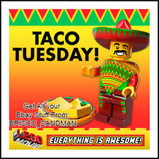 "Fridge Fun Refrigerator Magnet LEGO MOVIE ""TACO TUESDAY!"" Everything is Awesome!"