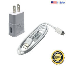 Samsung Galaxy S2 S3 S4 Active Micro USB Data Sync Cable Home Wall Charger