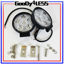 """2x 4.7"""" 18W LED Work Light Spot Round Truck Lamp Boat Offroad Jeep ATV SUV 4WD"""