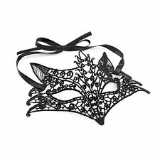 Black Mask Fox Lace Effect Sexy Lady Masquerade Ball Party Halloween Costume