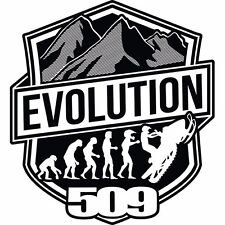 "509 STICKER SNOWMOBILE GARAGE WINDSHIELD DECAL VINYL EVOLUTION 4""X4"" (EACH)"
