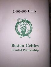 Boston Celtics Prospectus LTD Partnership1986 NBA Collectible Basketball Rare