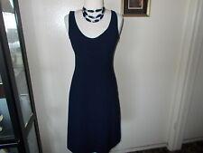 *AGNONA*  Woman Navy  100% Cashmere Sleeveless  Dress Made Italy size