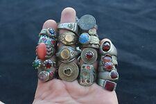 Afghan Kuchi Banjara Ethnic Old Tribal Antique Nomad Lot of 30 Rings Wholesale