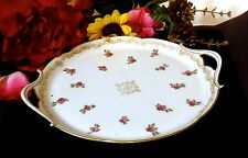LIMOGES T&V DEPOSE TOURAINE FRANCE Signed 22K Gold Appetizer Relish Dish  100 Yr