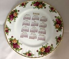 Royal Albert Doulton Old Country Roses Millenium 2000 calendar plate England