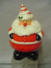 "Santa Bank Ceramic Made In Taiwan 7.25""x4.5"" Looks Rolly Polly Vintage"