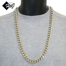 """30""""MEN's Stainless Steel HEAVY WIDE 11x5mm Gold Silver Cuban Curb Chain Necklace"""