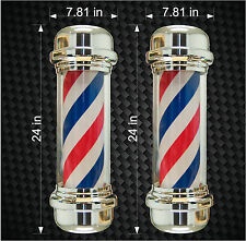 "2 24"" Digital Barbershop Barber Shop Pole Vinyl Decals Store graphic sticker"