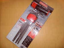 Powerfix Ball Head Hex Key Set - Metric, 1.5,2,2.5,3,4,5,6,8,9,10mm - As Photo
