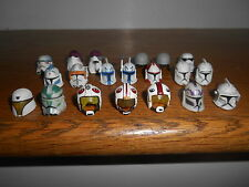 "STAR WARS Lot of 20 Clone Trooper/Stormtrooper/Pilot HELMETS for 3-3/4"" figures"