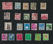 Old JAPAN Stamps - Lot of 22 used stamps.