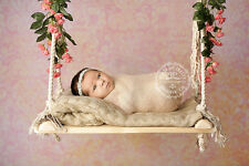 Real Wood Swing Photography Prop for Newborn Baby Infant Photos
