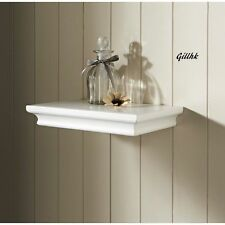 New 30cm floating wall Shelf shelves Classical style WHITE