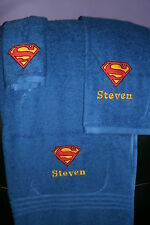 Superman Logo Personalized 3 Piece Bath Towel Set Superman Logo Any Color