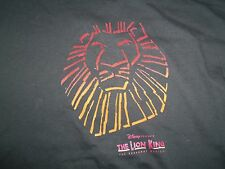 Disney Broadway Musical The Lion King Movie Black Graphic Print T Shirt XL