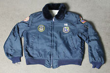 Vintage Sherpa Lined Mens L Nylon Jacket Military Patches Army Chemical Corps