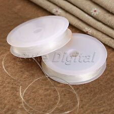 2 Rolls Clear Wire Cord Elastic Stretch Thread Jewelry Beads Making Wholesale