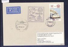 52733) LH LF Düsseldorf - Oslo Norwegen 6.4.97, card Karte Malawi ship steamer