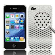 CUSTODIA HARD CASE RIGIDA PER APPLE IPHONE 4 4G COVER NUOVO GUSCIO BIANCO MESH