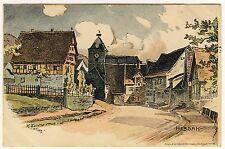 HEBSACK Remstal Remshalden / OA Schorndorf * Künstler-AK um 1900 KARL FUCHS