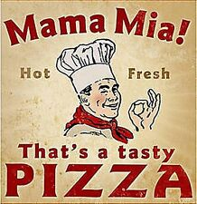 Mama Mia Pizza Look Retro Letrero De Metal (PST 1212)