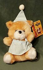 "Russ Plush 6"" SNOOZY Vintage 1979 LUV PETS Bed Time Teddy Bear Night Cap Gown"