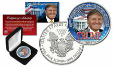 Donald J Trump 45th President Usa 1 oz Pure Silver 2016 American Us Eagle in Box