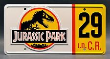 Jurassic Park / Hammond's Jeep / #29 *METAL STAMPED* Replica Prop License Plate