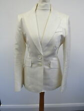 Ladies Ivory Cream Smart Karen Millen Jacket UK 10 - BAR H79