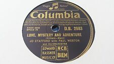 JO STAFFORD & PAUL WESTON LOVE MYSTERY AND ADVENTURE & SHRIMP BOATS COL DB2983