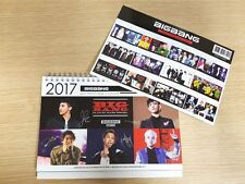 BIG BANG BIGBANG GDRAGON TOP COLLECTION 2017 2018 DESK CALENDAR + PAPER CALENDAR