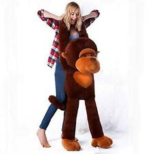 Stuffed Giant Large 130CM Big Brown Plush Monkey Huge Soft 100% Cotton Doll Toy
