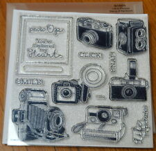 Close to My Heart Stamp S1604 LIFE IN PICTURES vintage cameras, photo, smile