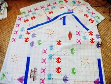 Vtg Space Invaders Sheet Set Double Full size Retro 1982 Gamers Geek