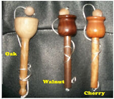 WOOD BALL AND CUP GAME NEW HANDTURNED BEAUTIFUL UR CHOICE OAK, CHERRY OR WALNUT