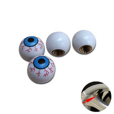 Eye Ball Car Wheel Air Tyre Valve Dust Caps Covers  Wheel Rim Set of 4