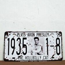License Plate ELVIS ARON PRESLEY Tin Sign Metal Poster Wall Decor BAR CLUB Hang