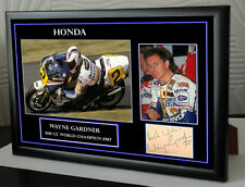 "Wayne Gardner Framed Canvas Signed Tribute "" Great Gift """