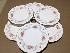 Vintage Royal Kent Bone China Salad Large Tea Plate Floral Ditsy Pink Roses