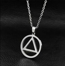 Pendant necklace triangle style Eminem rap hip-hop + chain, R5