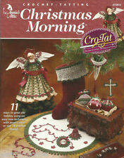 Christmas Morning Cro-Tat Crochet Tatting Patterns Ornaments + Annie's Attic NEW