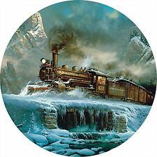 T MIGHTY MIKES Train by Ted Blaylock - 700 piece ROUND Masterpieces puzzle - NEW