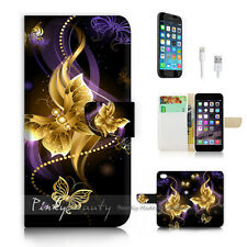 iPhone 6 6S (4.7') Flip Wallet Case Cover P2719 Butterfly