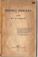 Libro Ricordi al Popolo Toscano Neutralità Trattati Risorgimento Guerrazzi 1839