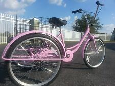 Adult Tricycle! New! Pink! Big Seat! Large Basket! Easy To Ride & Lots Of Fun!